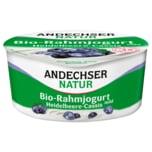 Andechser Natur Bio-Rahmjogurt Heidelbeere-Cassis 150g