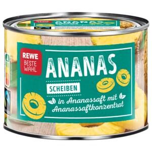 REWE Beste Wahl Ananas ganze Scheiben 142g