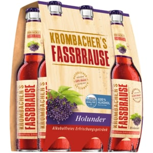 Krombacher's Fassbrause Holunder 6x0,33l