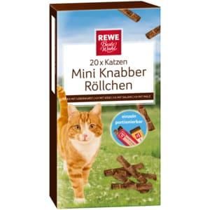 REWE Beste Wahl Katzen Mini-Knabber-Röllchen 40g, 20 Stück
