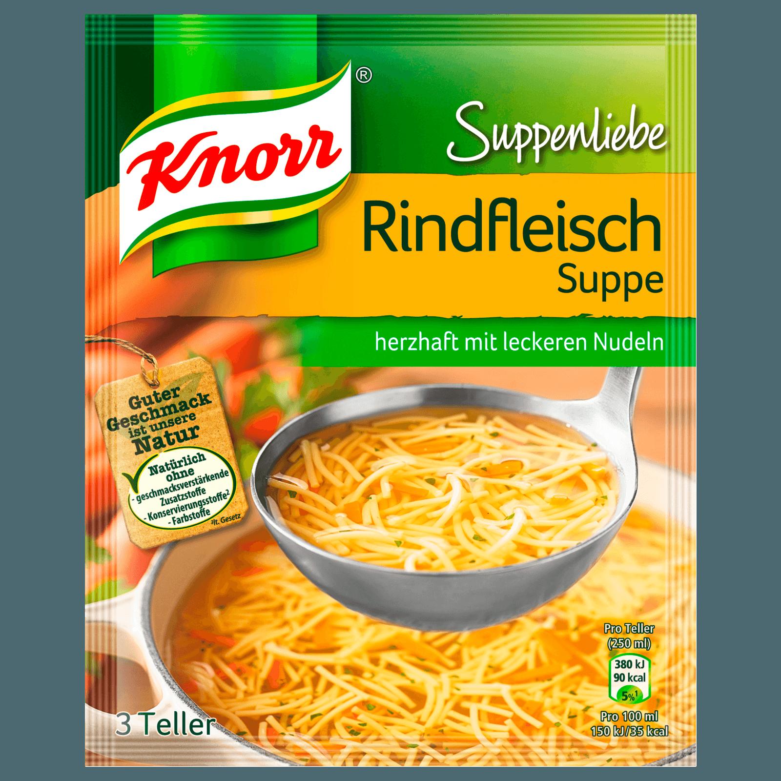 Knorr Suppenliebe Rindfleisch Suppe 3 Teller