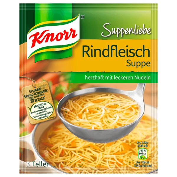 Knorr Suppenliebe Rindfleisch Suppe 3 Teller