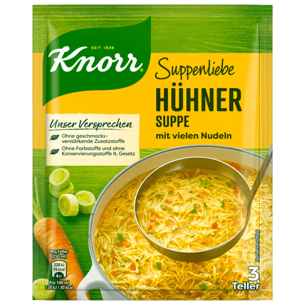 Knorr Suppenliebe Hühner Suppe 3 Teller