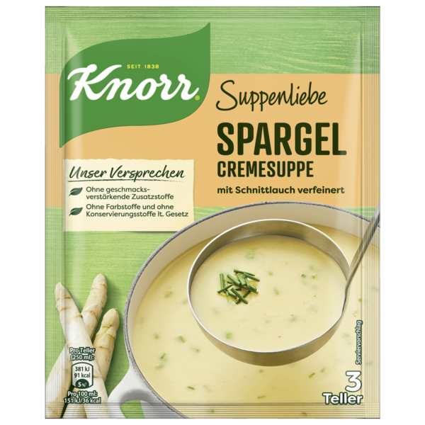 Knorr Suppenliebe Spargel Cremesuppe 750ml