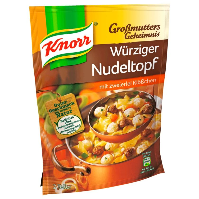 Knorr Großmutters Geheimnis Würziger Nudeltopf mit zweierlei Klößchen 600ml