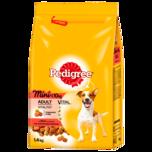 Pedigree Hundefutter Adult Mini 5 Sorten Fleisch 1,5kg