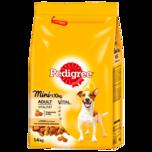 Pedigree Hundefutter Adult Mini Vitalität mit Geflügel 1,4kg