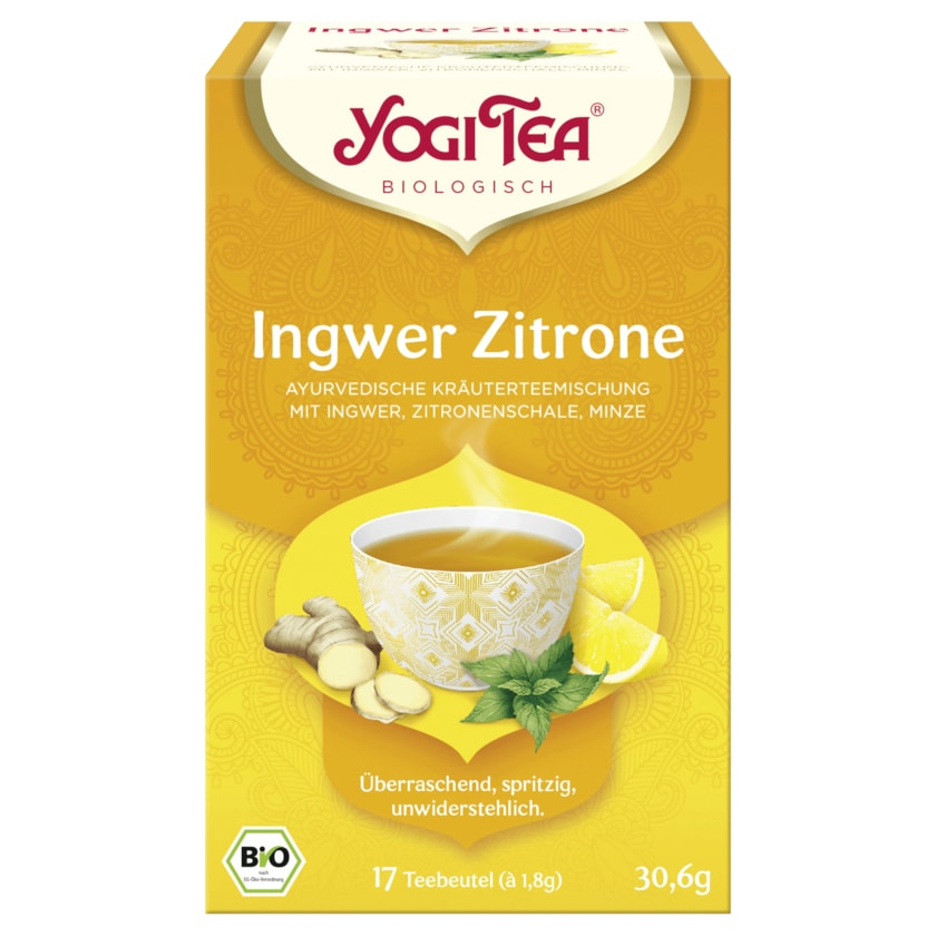 Yogi Tea Ingwer-Zitrone Bio 30,6g, 17 Beutel