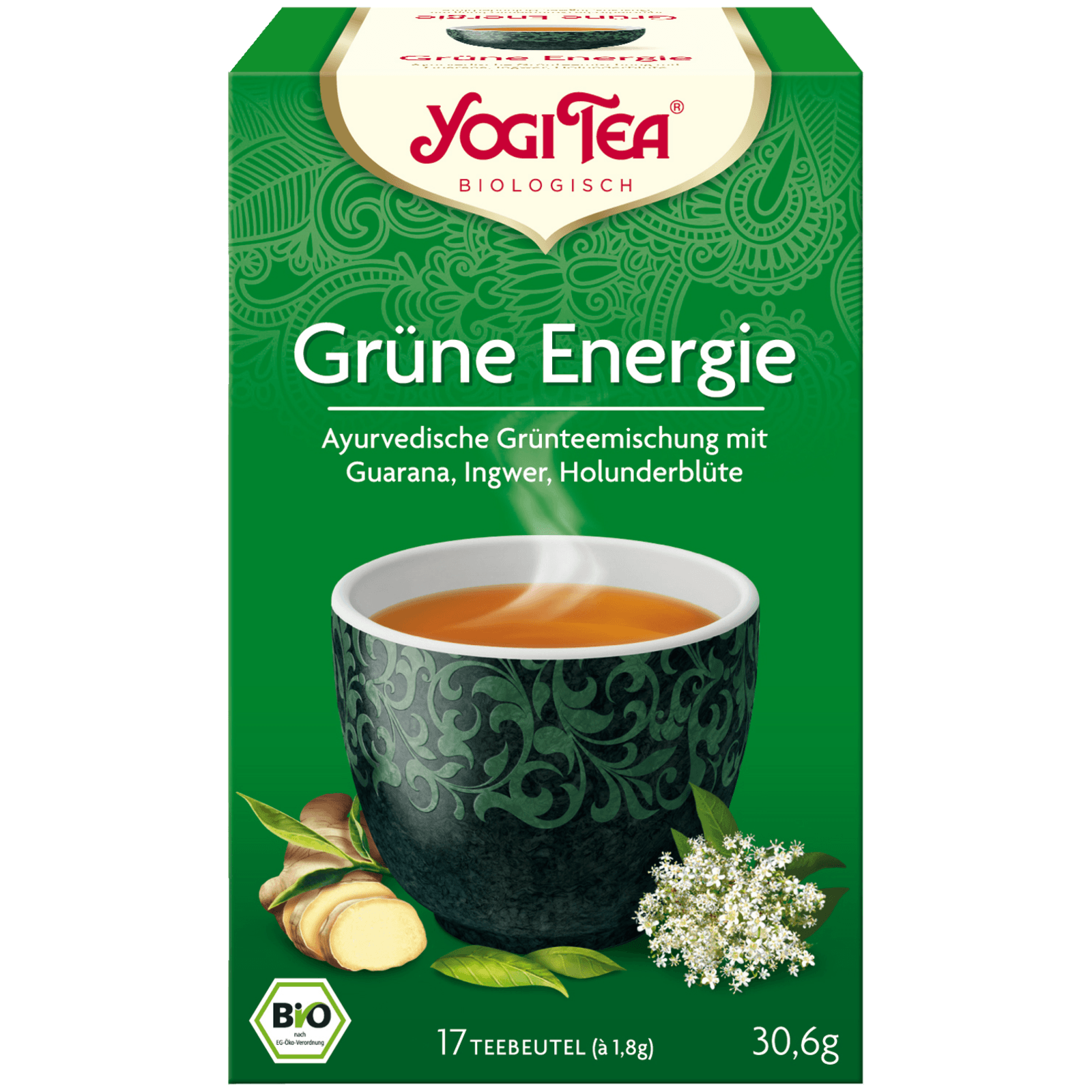 Yogi Tea Grüne Energie Bio 30,6g, 17 Beutel