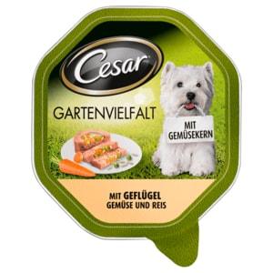 Cesar Hundefutter Gartenvielfalt mit Geflügel, Gemüse & Reis 150g