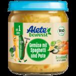 Alete Gemüse mit Spaghetti und Pute 250g
