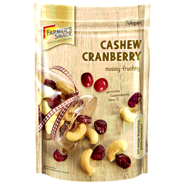 Farmer's Snack Cashew-Cranberry-Mix 175g