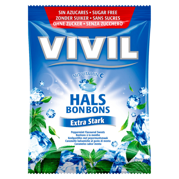 Vivil Halsbonbons extra stark 80g