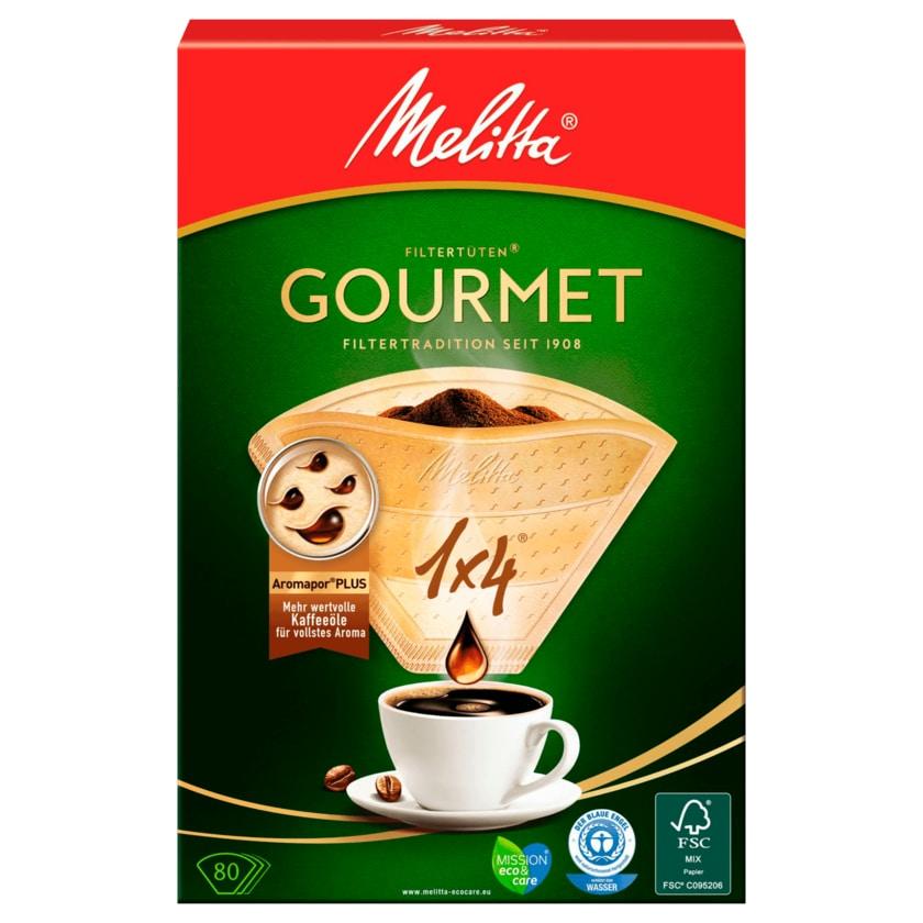 Melitta Filtertüten 1x4 Gourmet naturbraun Plus 80 Stück