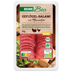 REWE Bio Geflügelsalami mit Palmfett 70g