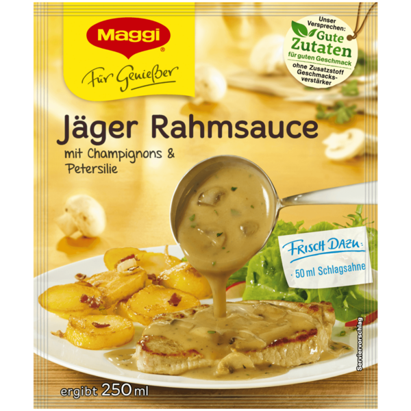 maggi f r genie er j ger rahmsauce 250ml bei rewe online bestellen. Black Bedroom Furniture Sets. Home Design Ideas