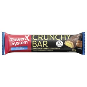 Power System Crunchy Protein Riegel 32% Vanille mit Karamell 45g