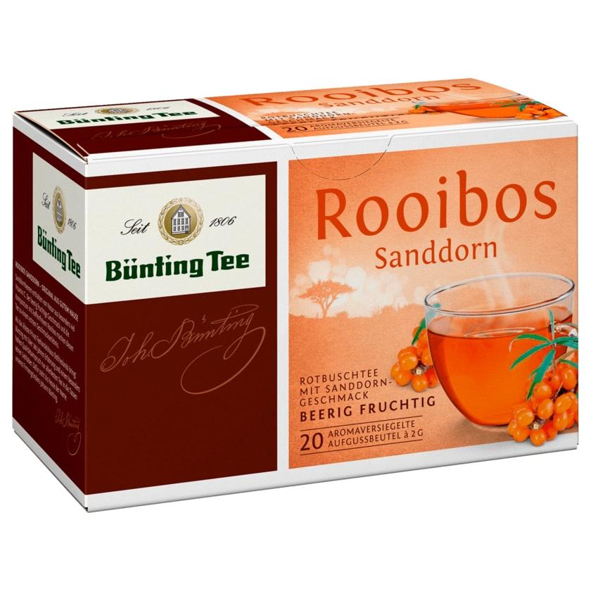 Bünting Tee Rooibos Sanddorn 40g, 20 Beutel