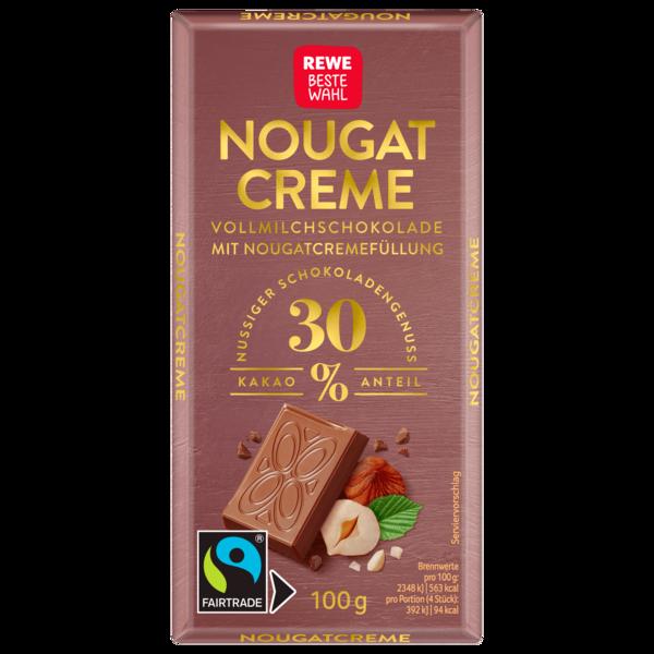 REWE Beste Wahl Nougat-Schokolade 100g