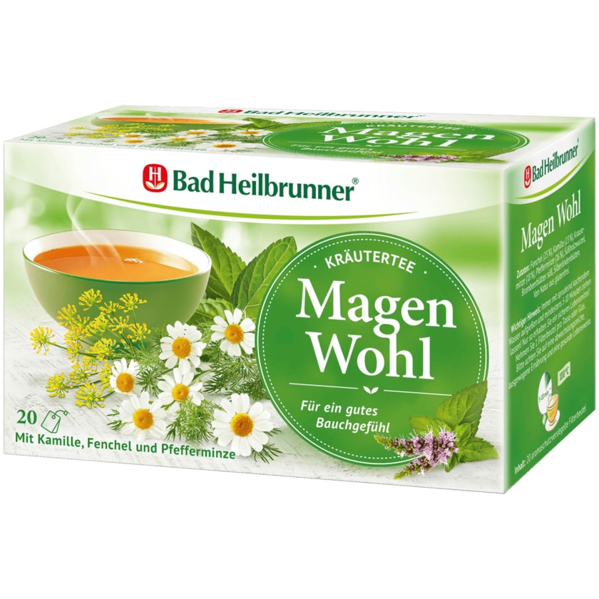 Bad Heilbrunner Kräutertee Magen Wohl 40g, 20 Beutel