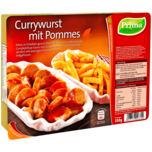 Prima Menü Currywurst mit Pommes 350g