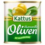 Kattus Spanische große Oliven mit Jalapeño-Creme 85g