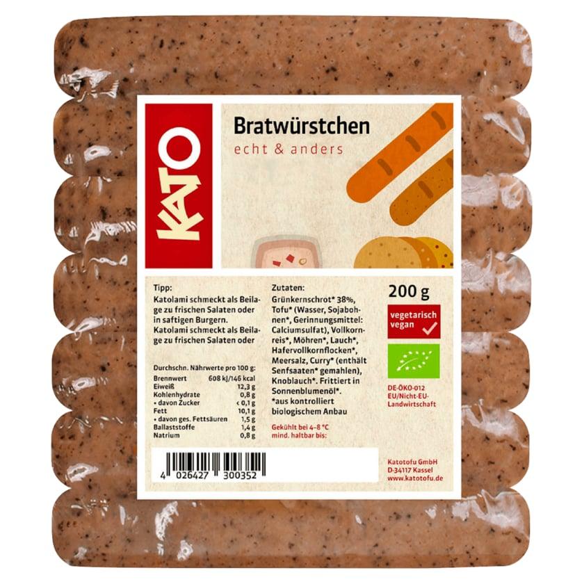 Kato Bio Bratwürstchen vegan 200g