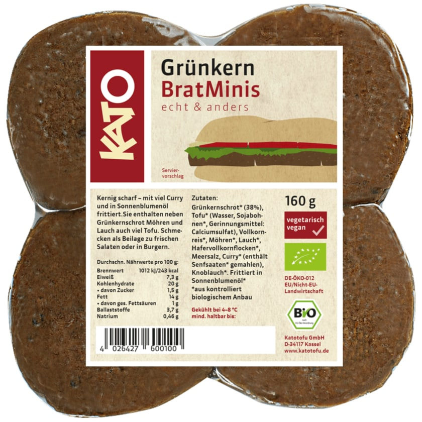 Kato BratMinis Grünkern Bio 4x40g