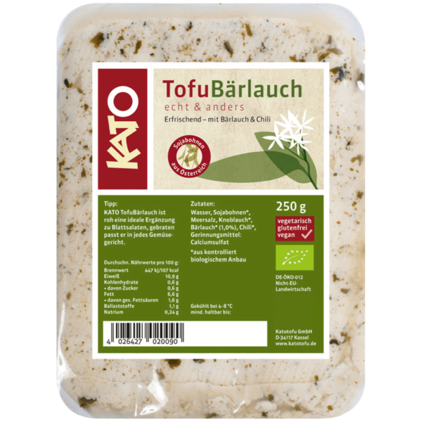Kato Bio Tofu Bärlauch 250g