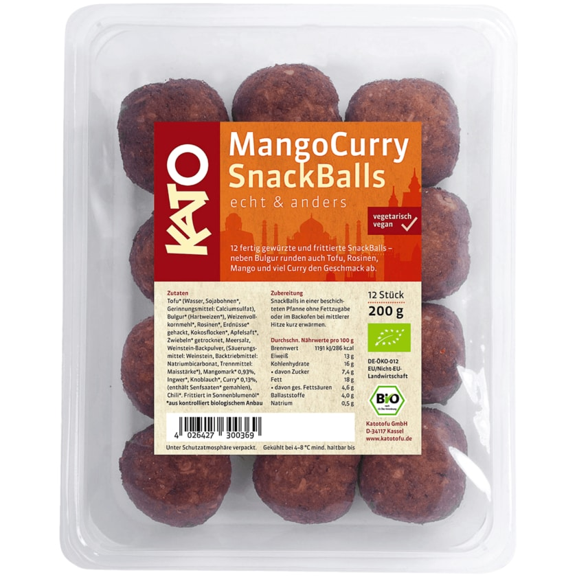 Kato Bio Mango-Curry Snackballs 200g