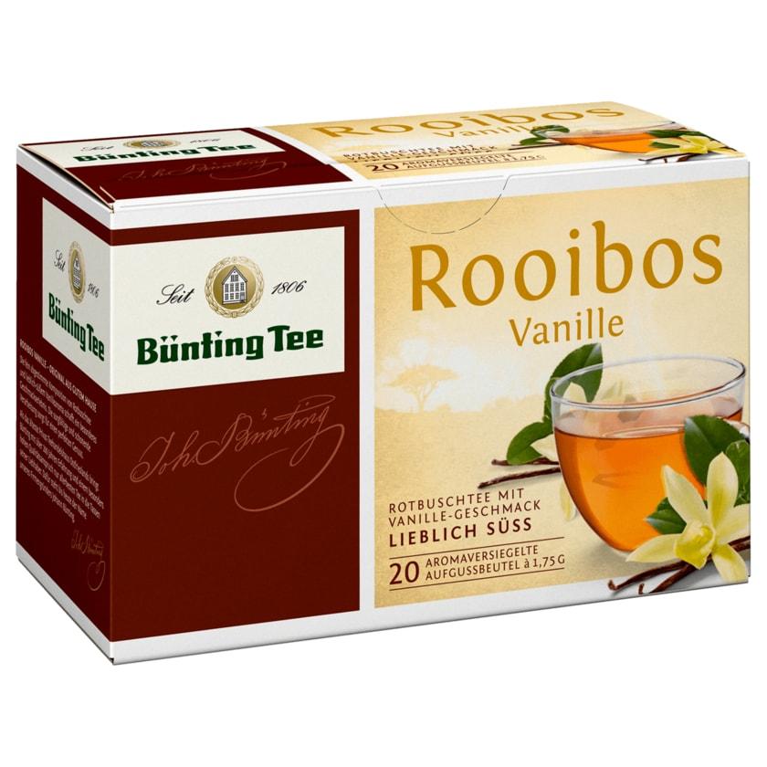 Bünting Tee Rooibos Vanille 35g, 20 Beutel