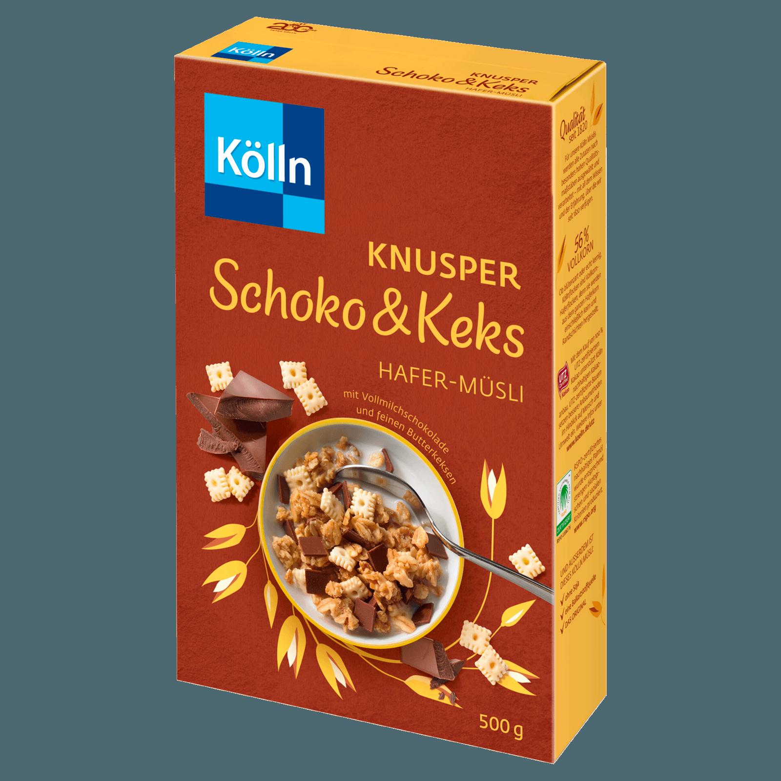 KÖLLN Müsli Knusper Schoko&Keks 500G