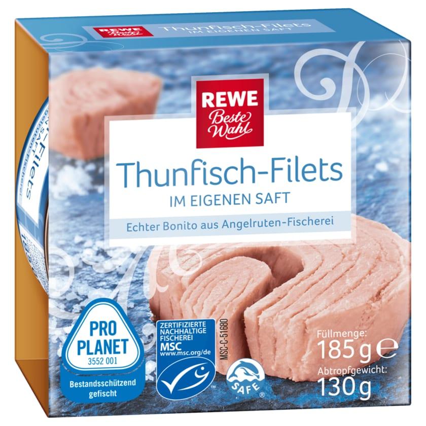 REWE Beste Wahl Thunfisch- Filets in eigenem Saft 185g