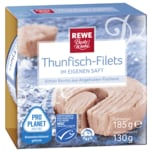 REWE Beste Wahl Thunfisch- Filets in eigenem Saft 185g