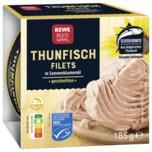 REWE Beste Wahl Thunfisch-Filets in Sonnenblumenöl 185g