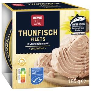 REWE Beste Wahl Thunfischfilets in Sonnenblumenöl 130g