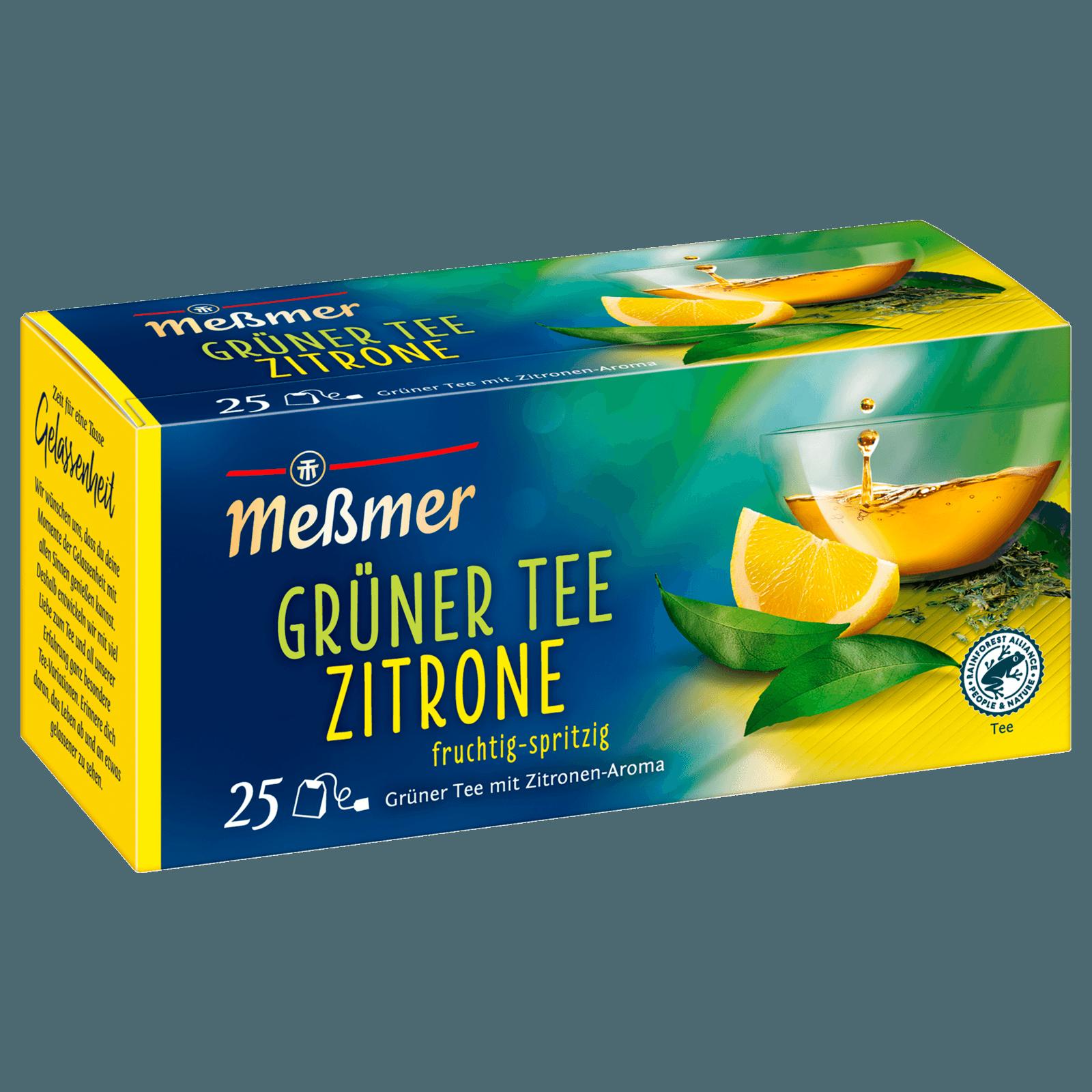 Meßmer Grüner Tee Zitrone 44g, 25 Beutel bei REWE online bestellen!