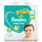 Pampers Baby Dry Gr.5 Junior 11-16kg Jumbo Plus Pack 72 Stück