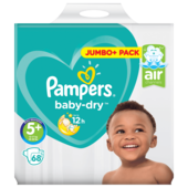 Pampers Baby Dry Gr.5+ Junior Plus 12-17kg Jumbo Plus Pack 68 Stück