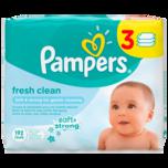 Pampers Feuchte Tücher Fresh Clean Sparpack 3x64 Stück