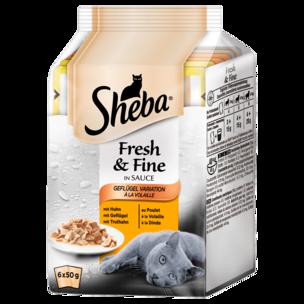 Sheba Fresh & Fine in Sauce Geflügel-Variation 6x50g