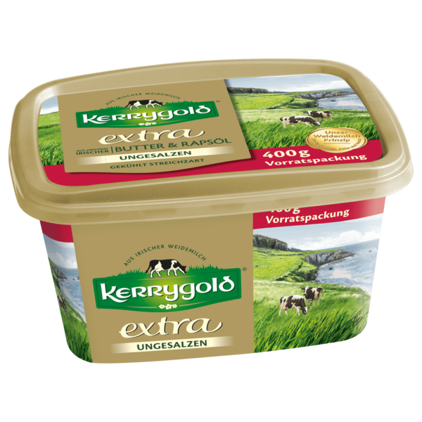 kerrygold extra mit raps l ungesalzen 400g bei rewe online bestellen. Black Bedroom Furniture Sets. Home Design Ideas