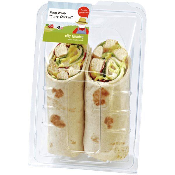 City farming Wrap Curry Chicken 200g