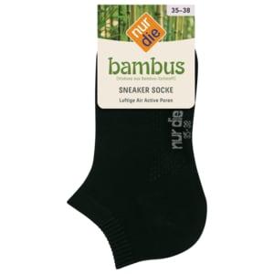 Nur die Damen Air Comfort Sneaker Socke schwarz 39-42