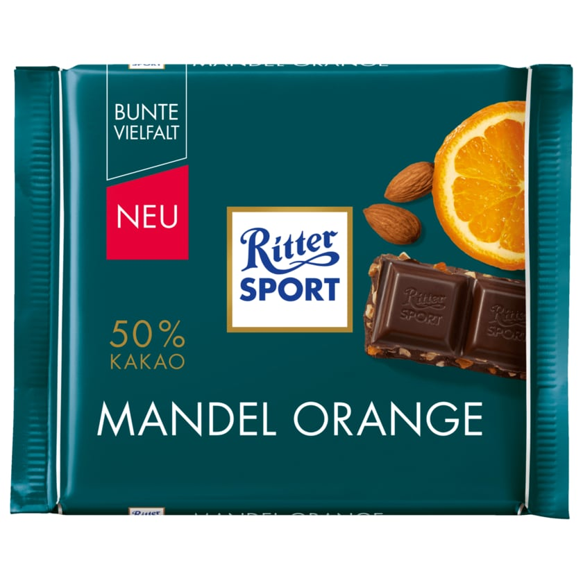Ritter Sport Schokolade Mandel Orange 100g