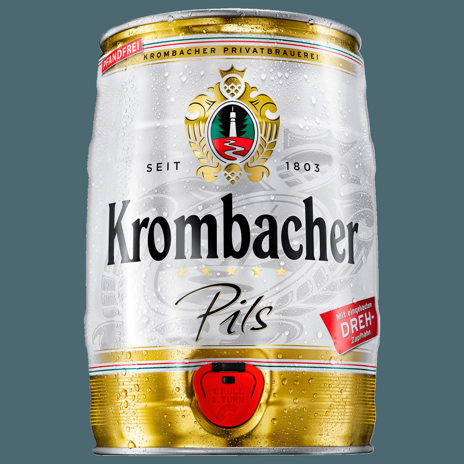 Krombacher Pils Fass 5l bei REWE online bestellen!