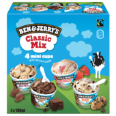 Ben & Jerry's Classic Mix Familienpackung Eis 4x100ml