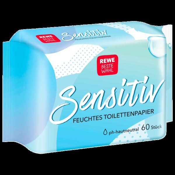 REWE Beste Wahl Feuchtes Toilettenpapier Sensitiv 60 Stück