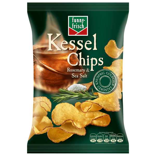funny frisch kessel chips rosemary salt 120g bei rewe online bestellen. Black Bedroom Furniture Sets. Home Design Ideas