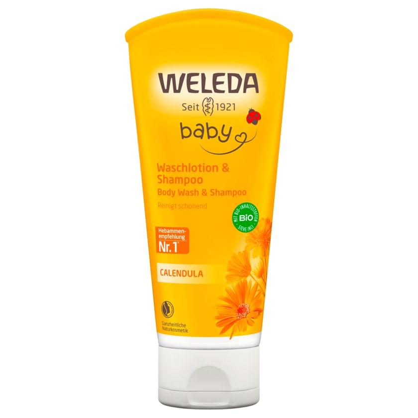 Weleda Baby Waschlotion & Shampoo Calendula 200ml